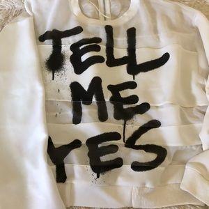 "Zara ""tell me yes"" top"